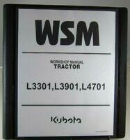 Kubota L3301, L3901, L4701  Service Workshop Repair Manual