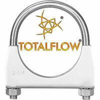 TOTALFLOW TF-50150 Stainless Steel Double Braided Exhaust Flex Pipe-2 ID x 6 OAL-Without Extensions
