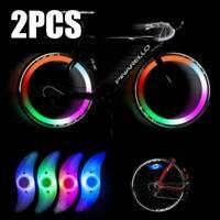Blue X 2 Bike Bicycle Cycling Wheel Spoke Wire Tyre Bright LED Flash Light Lamp