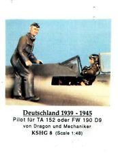 HECKER GOROS KSHG 8 - PILOT UND MECHANIKER DEUTSCHLAND 1939-45 1/48 WHITE METAL