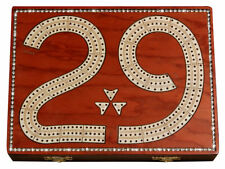 29 Cribbage Board studded with crystals on Blood Wood