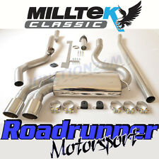 Milltek Audi Coupe UR Quattro 10v Turbo Exhaust System Non Res Downpipe Back Pol