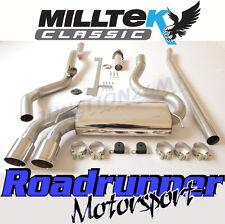 Milltek Audi Coupe UR Quattro 10v Turbo Exhaust System Non Res Downpipe Back Pol