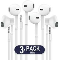 Headphones with MIC, Premium Earphones/Earbuds/Headphones [3-PACK] with Stereo