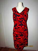 Phase Eight, black red wiggle occasion dress size 16.