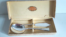 Boxed SILVER PLATED JAM & SPOON burro server, ANGORA MADE IN INGHILTERRA