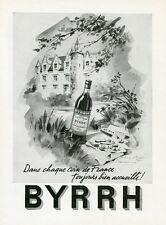 """""""BYRRH"""" Annonce originale entoilée pour FRANCE-ILLUSTRATION de 1950 FALCUCCI"""