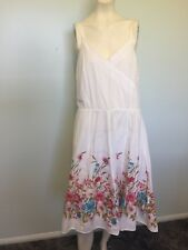 Esprit Fully lined white floral size 14 dress Women casual work party holiday