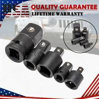 5Pcs 1/4 3/8 1/2 Drive Ratchet Socket Adapter Reducer Wrench Kits Air Impact