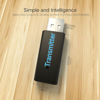 USB 3.5mm Bluetooth Stereo Music Transmitter Audio Adapter Dongle For TV PC MP3