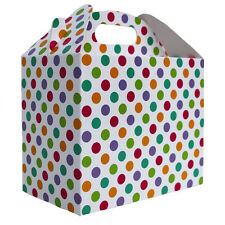 10 x SPOTTY GABLE GIFT BOX - Baby Shower Gift Hamper Box - Party Lunch Snack Box