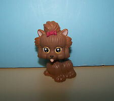 "2 1/2"" Chic Boutique Puppy Dog Brown Chow w/ Tongue out & Red Bow LPS / Barbie"