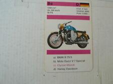 72-MOTORRADER 8C CLYMER MUNCH 1200 TT  QUARTETT CARD NOT 100 % OK