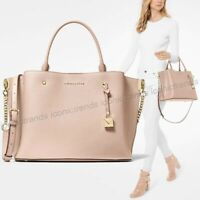 NWT 🌸  Michael Kors Arielle Large Satchel Leather Soft Pink Gold