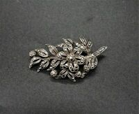 Silver floral statement brooch Art Nouveau vintage beautiful collectable