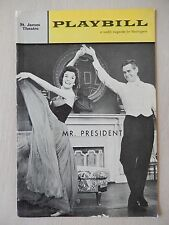 December 17th, 1962 - St. James Theatre Playbill - Mr. President - Robert Ryan