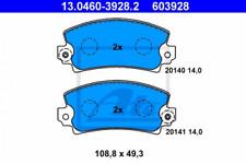 Bremsbelagsatz, Scheibenbremse für Bremsanlage Vorderachse ATE 13.0460-3928.2
