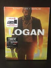 Logan Target Exclusive Blu-Ray DVD Digital HD w/ WPONX Photo Book New
