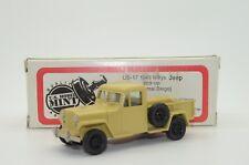 Rare! Willys Jeep Pick up 1949 US Mint model Brooklin US 17 1/43