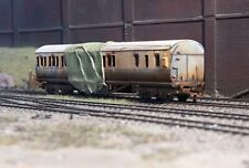 OO gauge abandoned GWR coach, heavily rusted and weathered. Ref 1