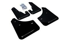 Rally Armor Mud Flaps Guards for 04-09 Mazda3 Mazdaspeed 3 (Black w/Silver Logo)