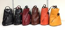 Italian Classic Leather Shoulder Bag Backpack Rucksack Made In Italy