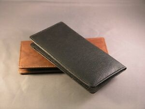 Quality Leather Checkbook cover wallet -  Various