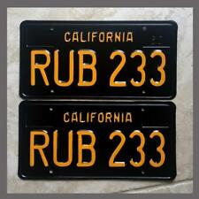 1963 California YOM License Plates Pair Restored DMV Clear