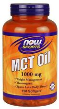 MCT Oil 1000 mg 150 Softgels Now Foods, Weight Loss, Thermogenic