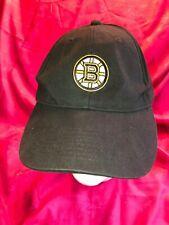 NHL Boston Bruins black cotton ball cap, hook-n-loop back adjust