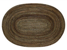 Kouboo, Carmel Handwoven Oval Nito Vine Placemat, 19 x 13 inch, Set of 2, Brown