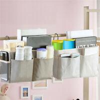 Bedside Caddy Hanging Storage Bag Cloth Pocket Bed Holder Organizer
