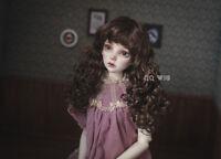 QQ-42B BJD Doll Synthetic Mohair Wig dark brown 1/6;1/4; 1/3; Blythe 9-10inch