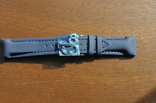 Jacob & Co. Genuine Navy Blue Poly Rubber Band Strap 20MM For 40MM Watch