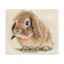 LOP EARED BUNNY RABBIT, counted cross stitch kit + all materials needed