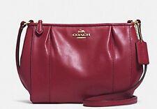 Coach F52177 Colette Crimson Leather Swingpack shoulder/Crossbody Bag