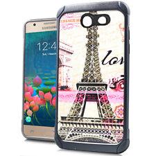 For Samsung Galaxy J7 2017 Models - Eiffel Tower Paris Hybrid Rubber Armor Case