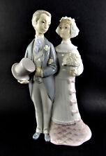 Lladro Porcelain WEDDING DAY Bride & Groom Figurine 4808 Made in Spain (LE)