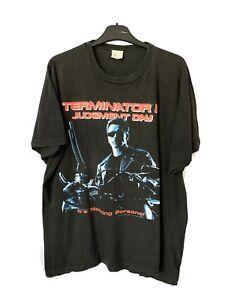 Terminator 2 Judgement Day Tshirt True Vintage Original 1991 Black Print