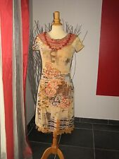 ELEGANTE ROBE + COLLIER DRESS + NECKLACE SAVE THE QUEEN T M 36 38 40 UK 8 10 12