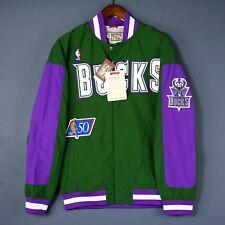 100% Authentic Mitchell & Ness Bucks Warm Up Jacket XL 48 Giannis Antetokounmpo