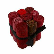 """In The Patch Designs Pre-Felted Hand Dyed Wool Cube O Curlers 4""""x16"""" Reds 9 Pcs"""