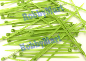 """4"""" Inch NYLON 66 (UL) 3 x 100mm Green Color Cable Zip Tie Fastern Wrap x 150 pcs"""