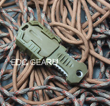 Molle Military Beatles Buckle Sawtooth pocket shiv & Adapter Self Defence #Green