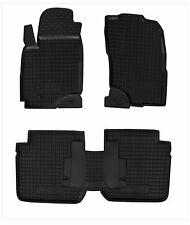 Rubber Car Floor Mats All Weather Alfombras fit Mitsubishi OUTLANDER 2003-2008
