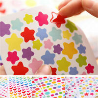 Wholesale Colorful Star Love Shape Stickers For School Children Teacher Reward