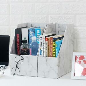Magazine Files Books Paper Holder Office Organiser White Hot Boxes Storage