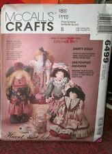 McCall's Crafts Pattern 6499 Dainty Dolls With Clothes