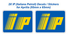 IP logo (Italiana Petroli) Fairing Decals Stickers for Aprilia (95mm x 65mm) X2