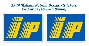 IP logo (Italiana Petroli) Fairing Decals Stickers for Aprilia (95mm x 65mm) X2